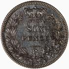 Sixpence 1879: Photo Proof Coin - Sixpence, Queen Victoria, Great Britain, 1879
