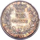 Sixpence 1867: Photo Great Britain 1867 6 pence