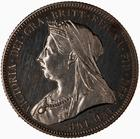 Shilling 1893: Photo Proof Coin - Shilling, Queen Victoria, Great Britain, 1893