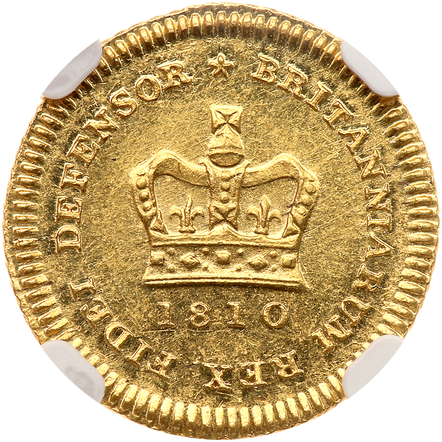 Third Guinea 1810: Photo Great Britain 1810 1/3 guinea