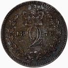 Twopence 1879 (Maundy): Photo Coin - Twopence (Maundy), Queen Victoria, Great Britain, 1879