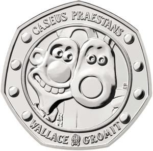 United Kingdom / Fifty Pence 2019 Wallace and Gromit (NCLT) - reverse photo