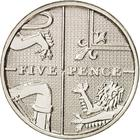 United Kingdom / Five Pence 2008 (Dent design) - reverse photo