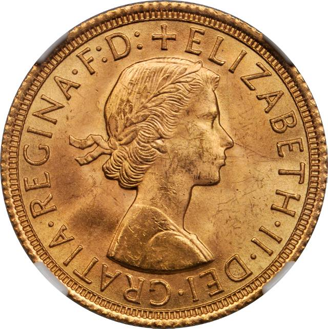 Sovereign (St George): Photo Great Britain 1958 sovereign