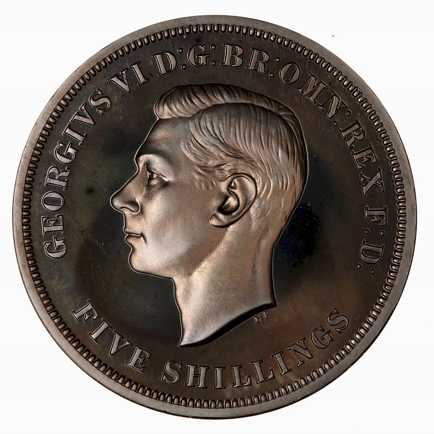 Crown (St George, CuproNickel): Photo Proof Coin - Crown, Festival of Britain, George VI, Great Britain, 1951
