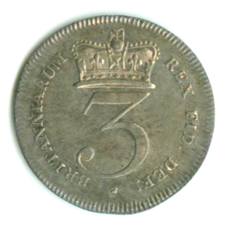 Threepence 1820 (Maundy): Photo Great Britain 1820 3 pence