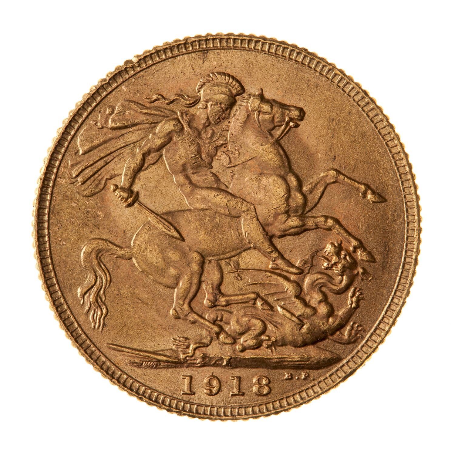 Sovereign (St George): Photo Coin - Sovereign, India, 1918
