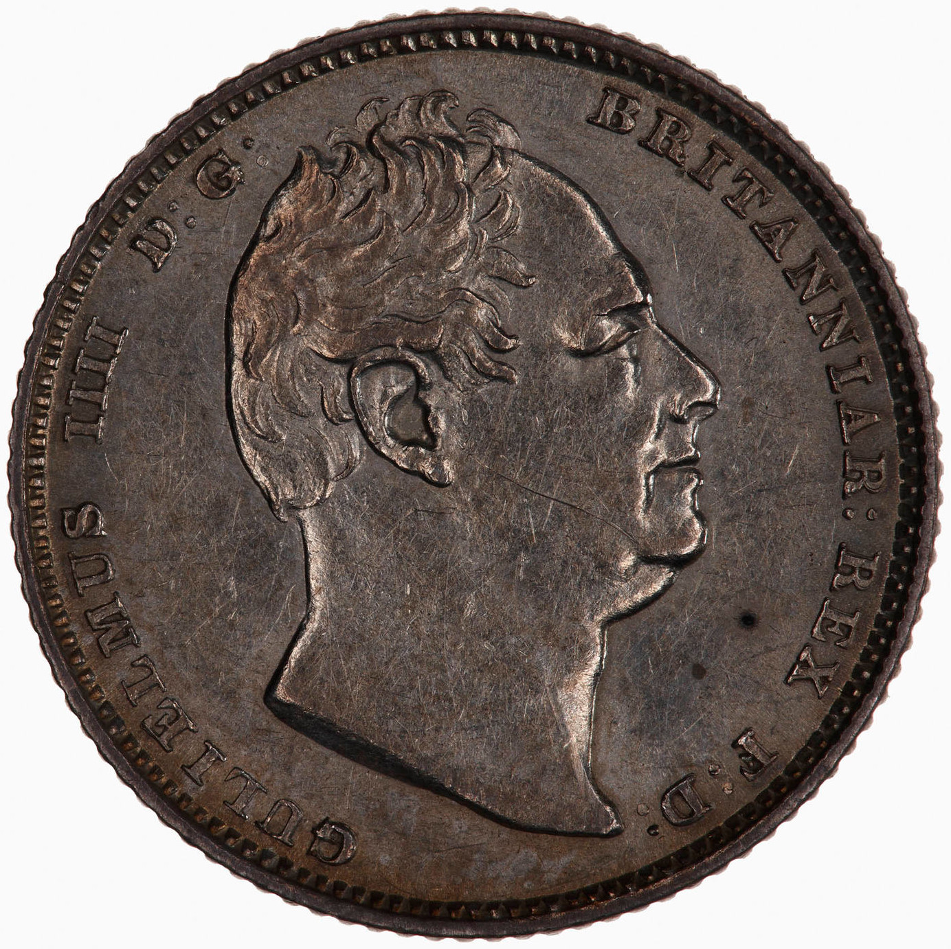 Sixpence 1834: Photo Coin - Sixpence, William IV, Great Britain, 1834