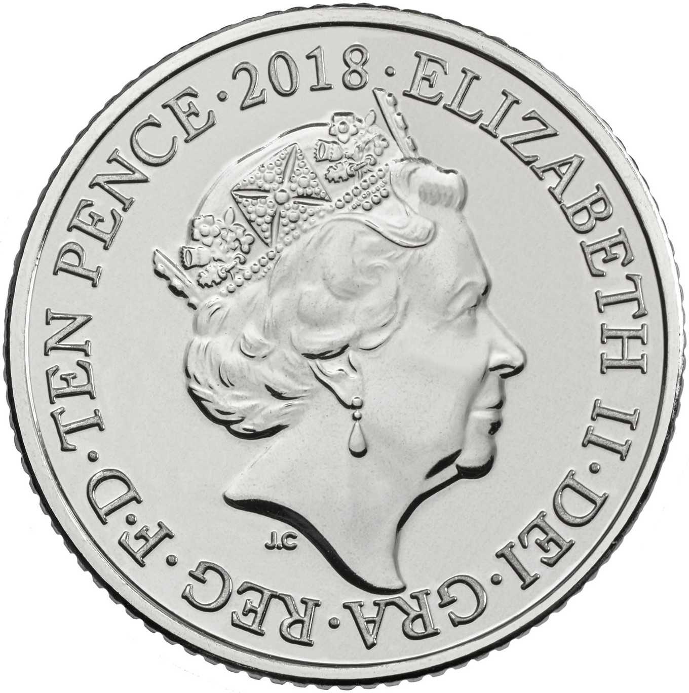Ten Pence: Photo A - Angel of the North 2018 UK 10p Coin | The Royal Mint
