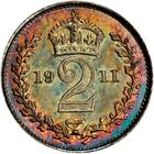 Twopence 1911 (Maundy): Photo Great Britain 1911 2 pence