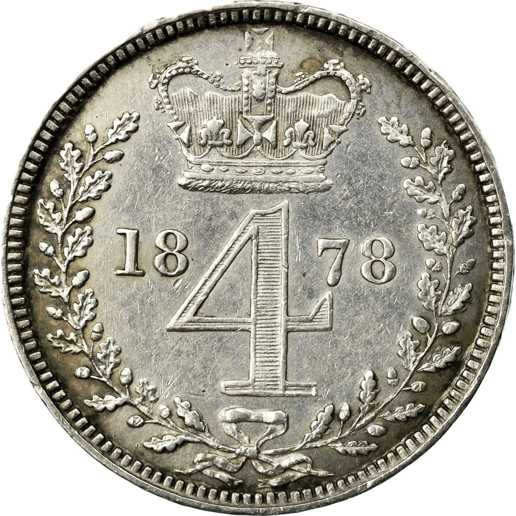 Fourpence 1878 (Maundy): Photo Coin, Great Britain, 4 Pence, 1878