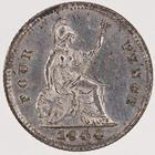 Fourpence 1844: Photo Silver 4 pence, Great Britain