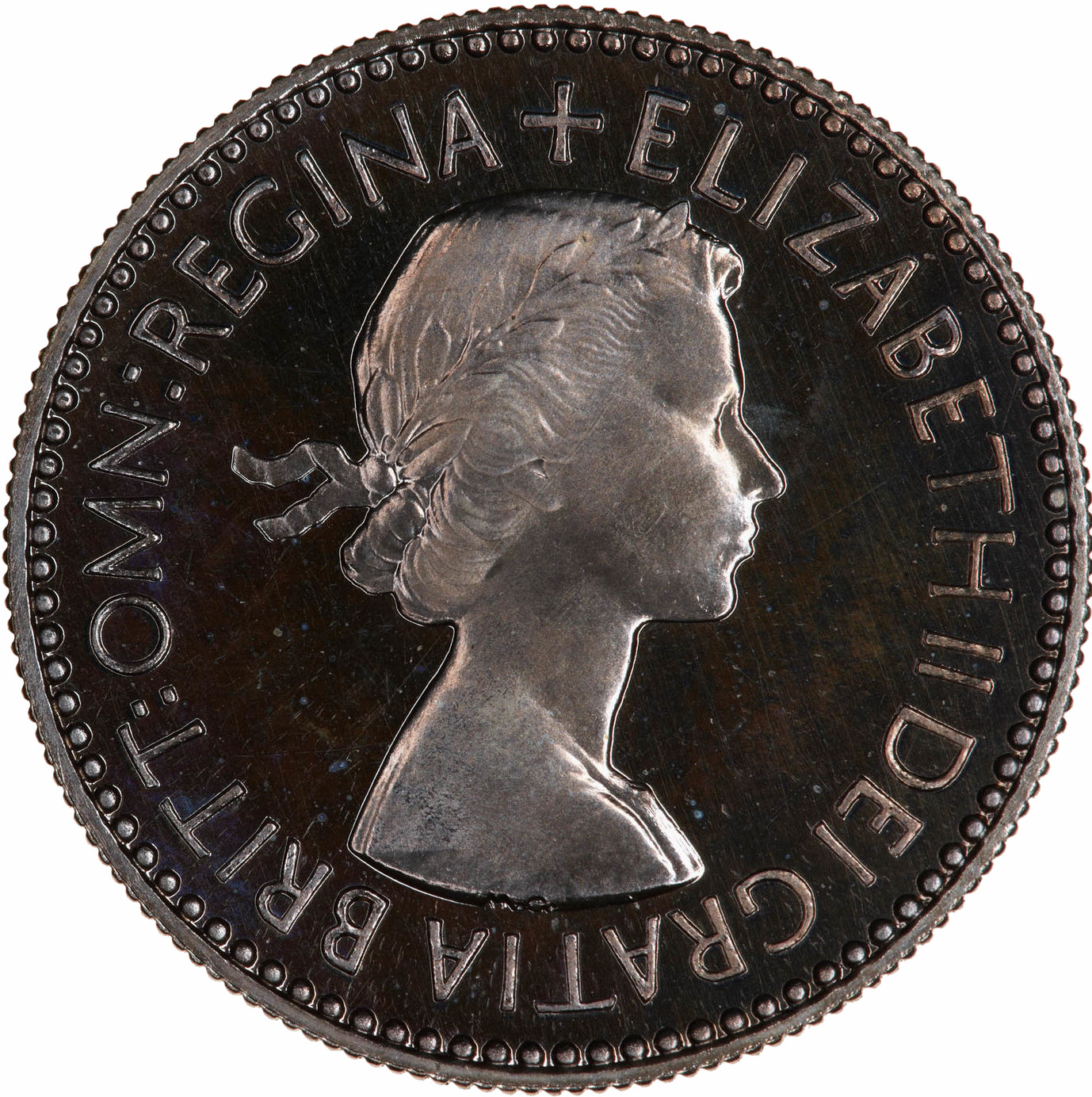 Sixpence 1953: Photo Proof Coin - Sixpence, Elizabeth II, Great Britain, 1953