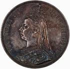 Crown 1889: Photo Coin - Crown, Queen Victoria, Great Britain, 1889