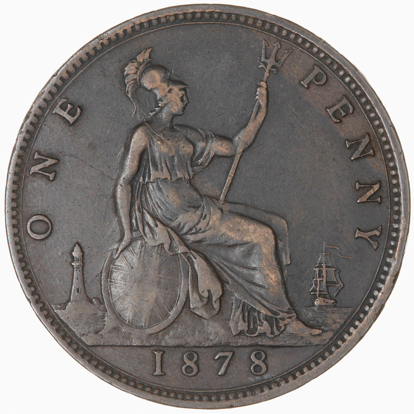 Penny 1878: Photo Coin - Penny, Queen Victoria, Great Britain, 1878