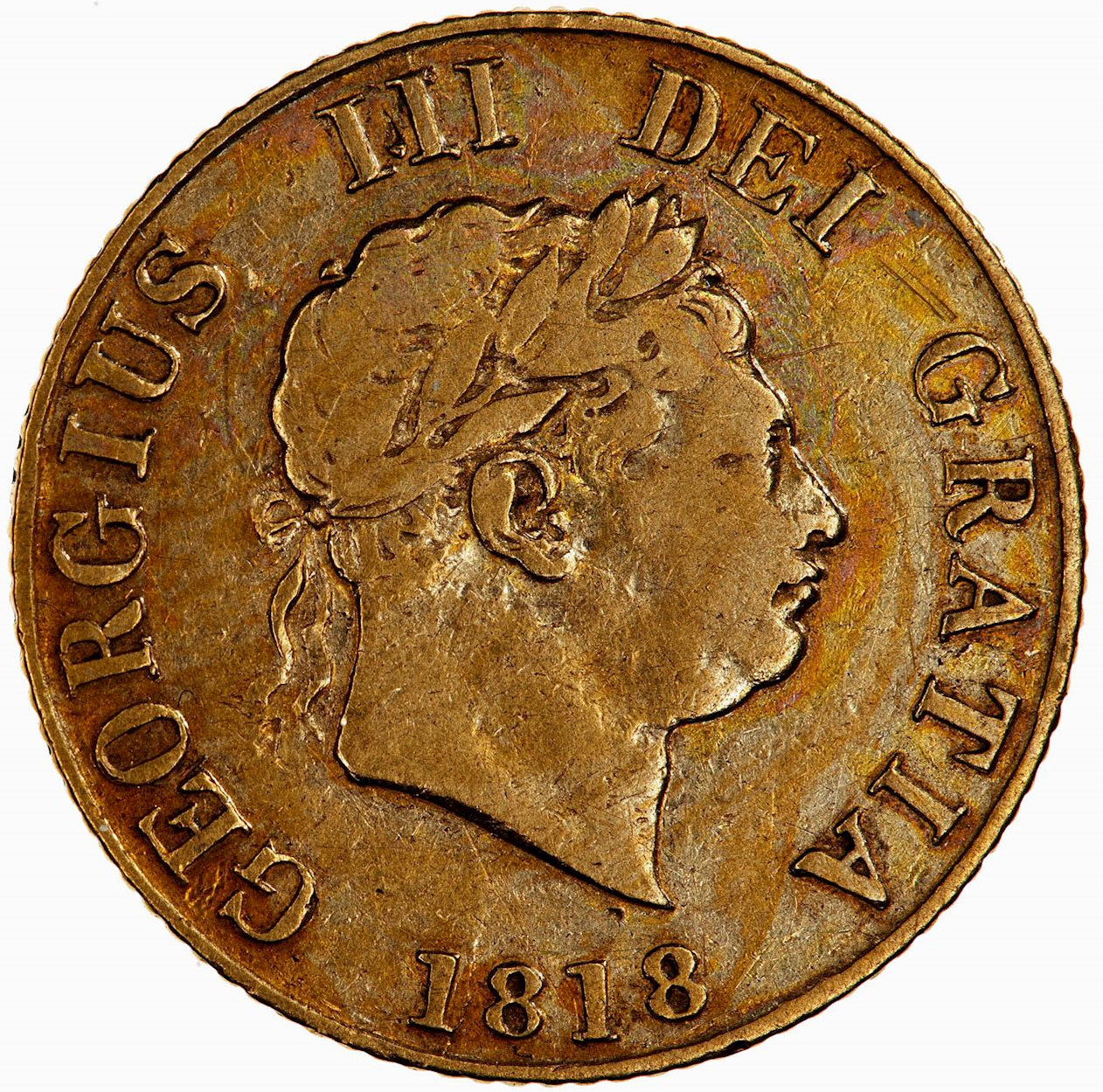 Half Sovereign 1818: Photo Coin - Half-Sovereign, George III, Great Britain, 1818