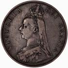 Double Florin 1889: Photo Coin - Double-florin, Queen Victoria, Great Britain, 1889