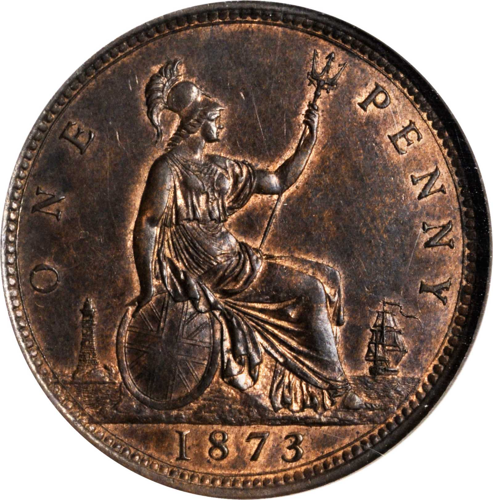 Penny 1873: Photo Great Britain 1873 penny
