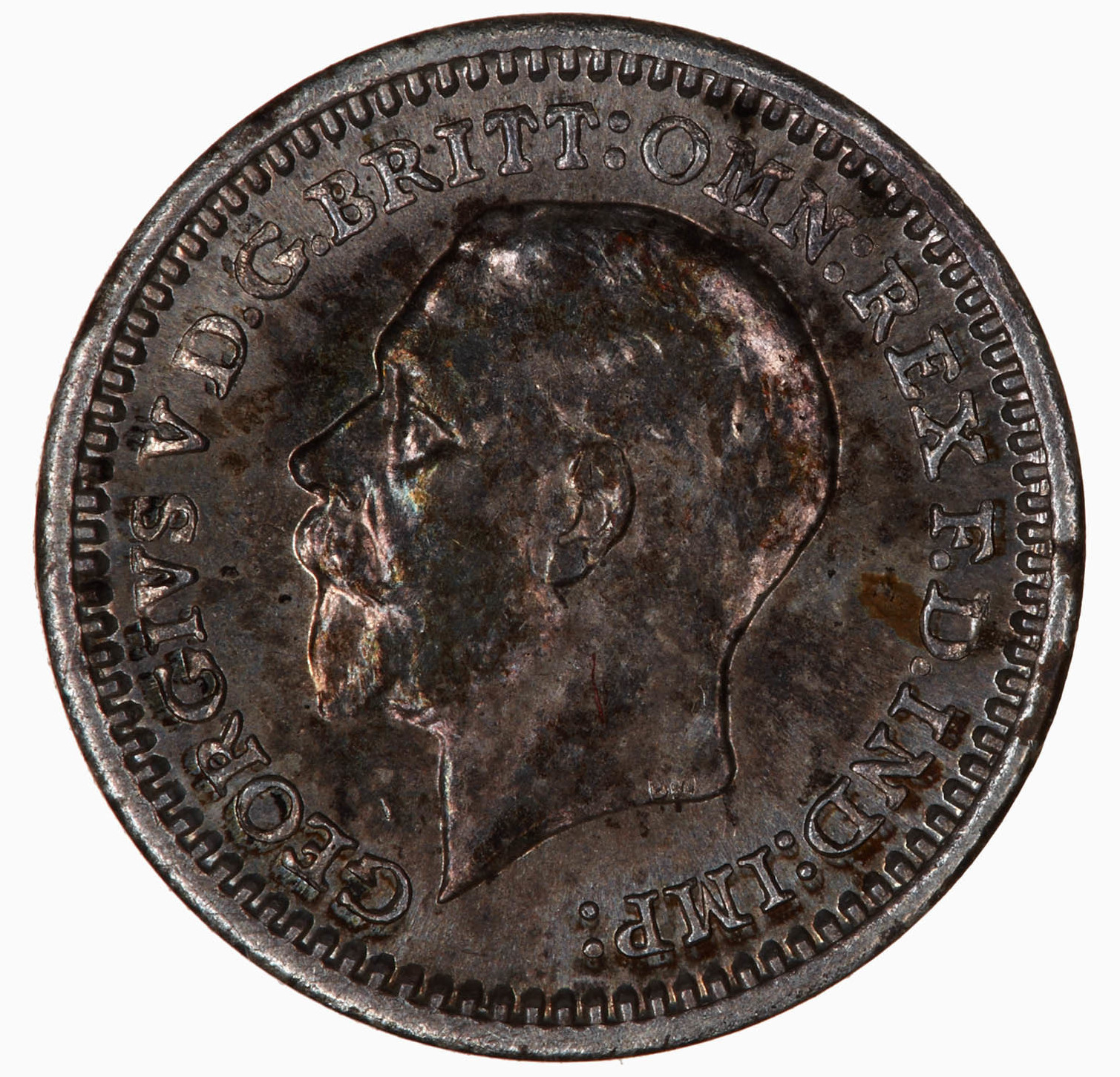 Maundy Penny (Pre-decimal): Photo Coin - Penny (Maundy), George V, Great Britain, 1932