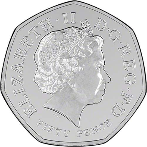Fifty Pence 2014 Commonwealth Games: Photo 2014 UK Coin 50p BU Glasgow Commonwealth Games