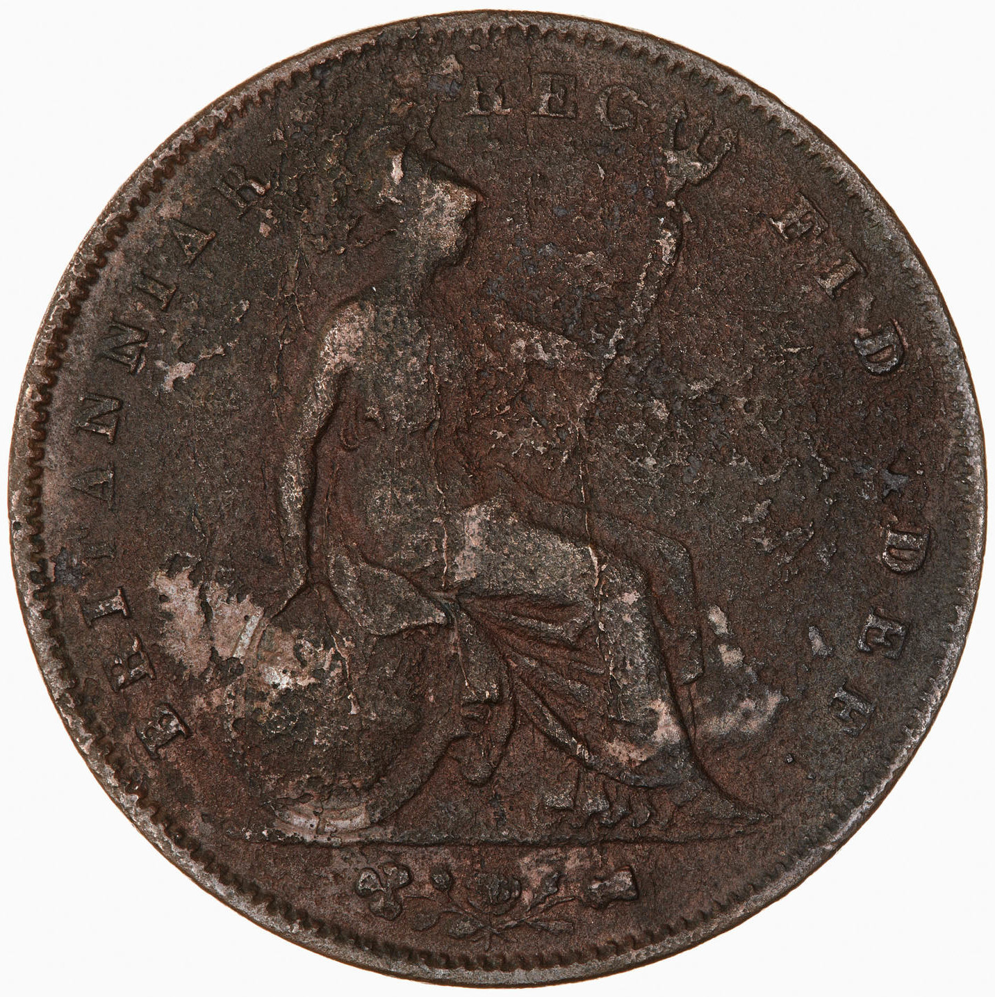 Penny 1846: Photo Coin - Penny, Queen Victoria, Great Britain, 1846