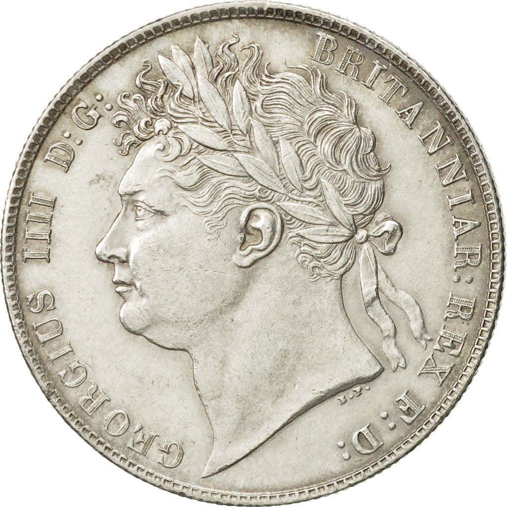 Halfcrown 1824 Second Issue: Photo Great Britain, George IV, 1/2 Crown, 1824