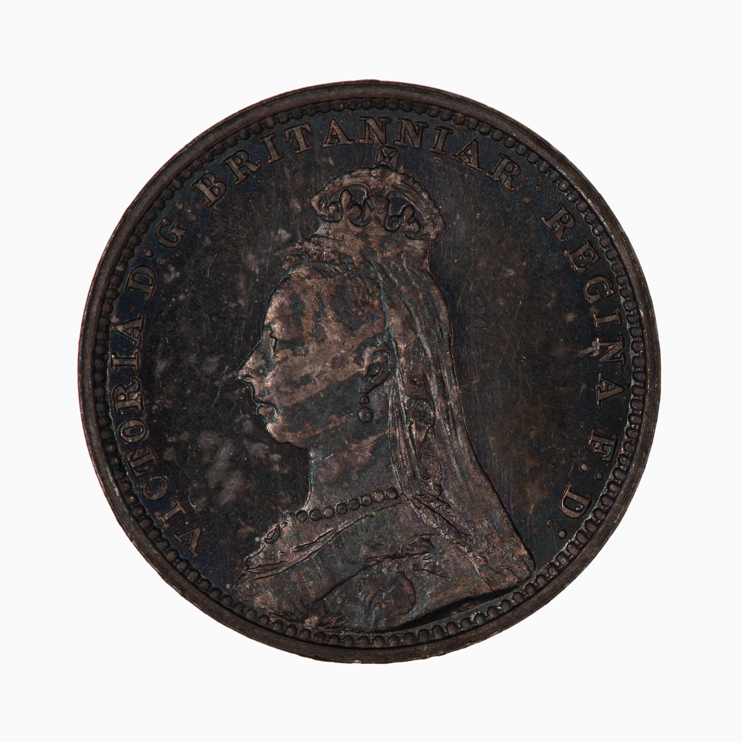 Maundy Twopence (Pre-decimal): Photo Coin - Twopence (Maundy), Queen Victoria, Great Britain, 1892