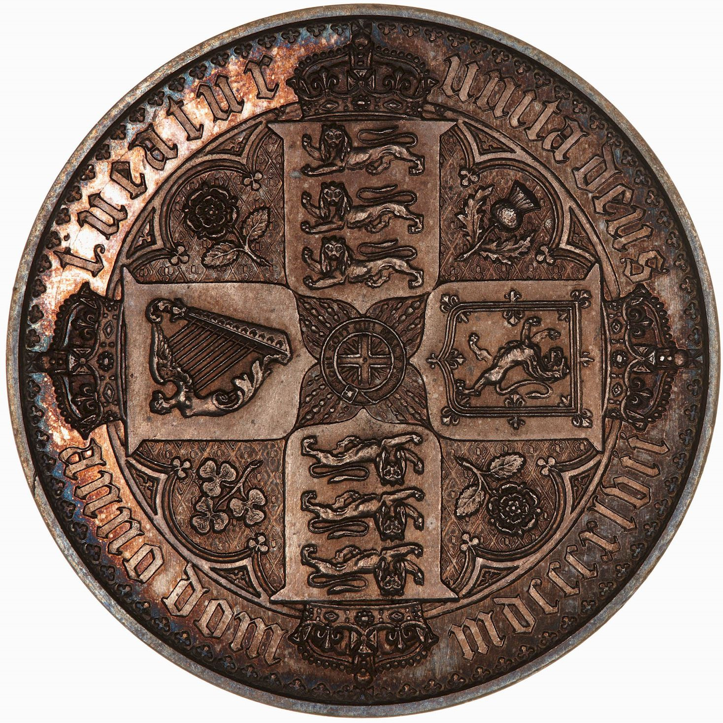Crown: Photo Coin - Crown (Gothic), Queen Victoria, Great Britain, 1847