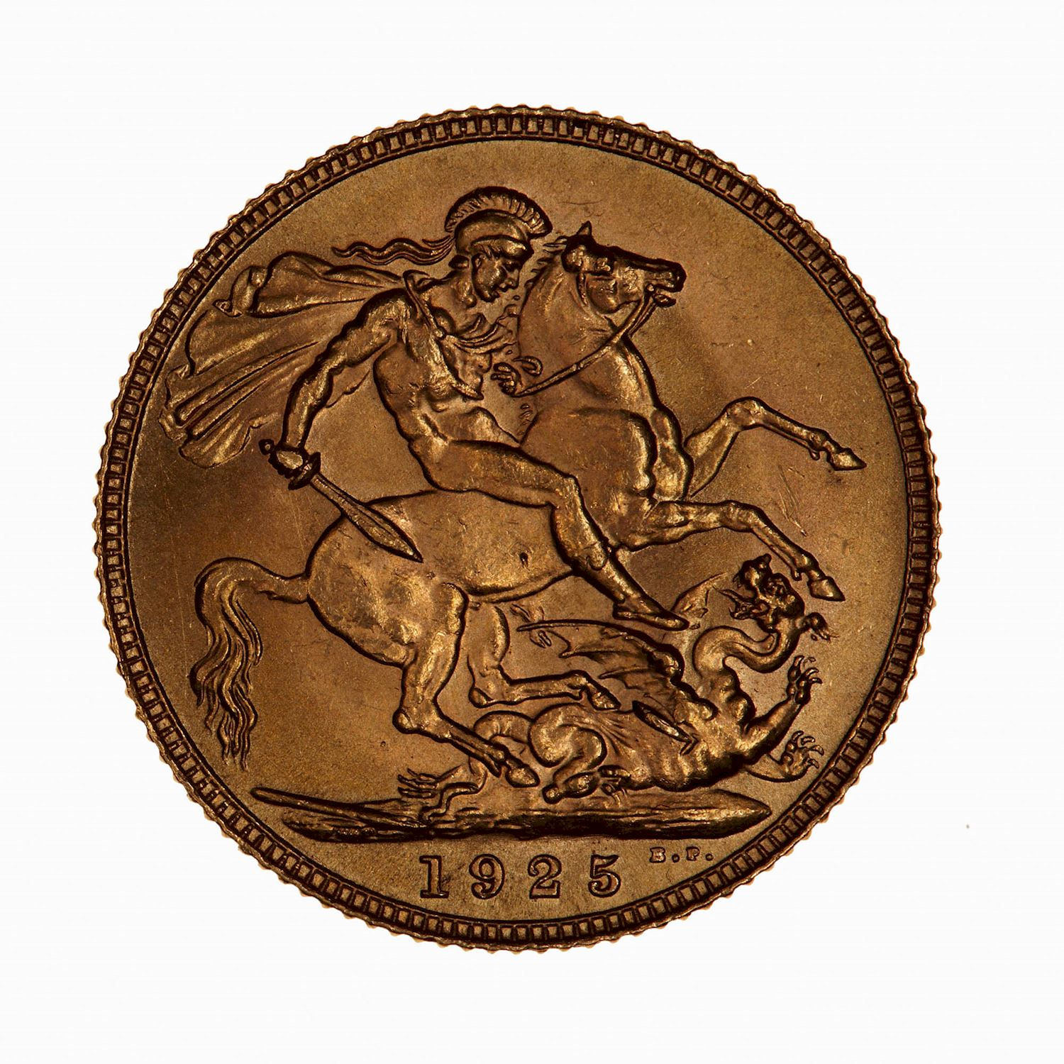 Sovereign (St George): Photo Coin - Sovereign, George V, Great Britain, 1925