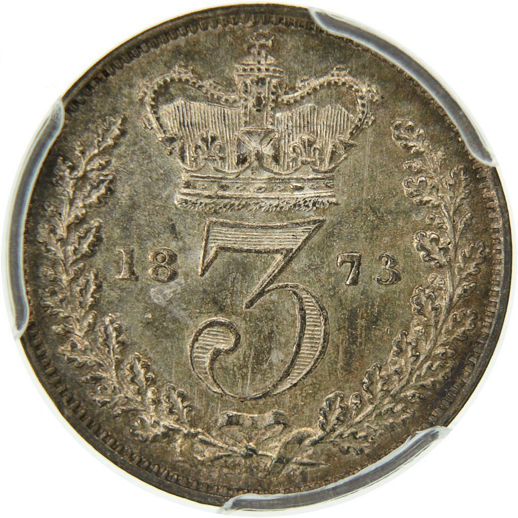 Threepence 1873 (Maundy): Photo Coin, Great Britain, Victoria, 3 Pence, 1873