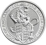 United Kingdom / Silver Two Ounces 2016 Lion of England - reverse photo