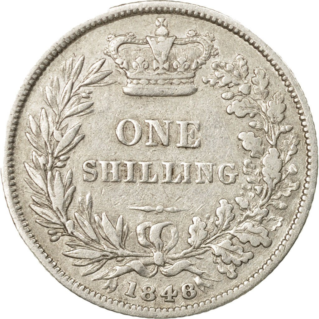 Shilling 1848: Photo Coin, Great Britain, Shilling, 1848