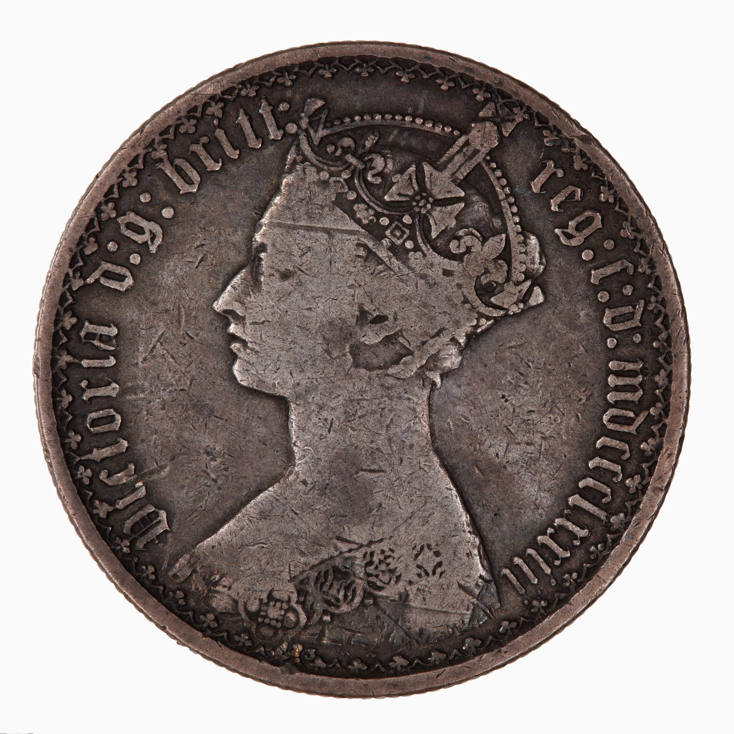 Florin 1873: Photo Coin - Florin, Queen Victoria, Great Britain, 1873