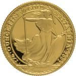 United Kingdom / Gold Quarter Ounce 2002 Britannia - reverse photo