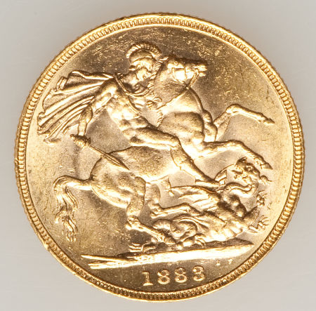 Sovereign 1883 St George: Photo Australia 1883-M sovereign