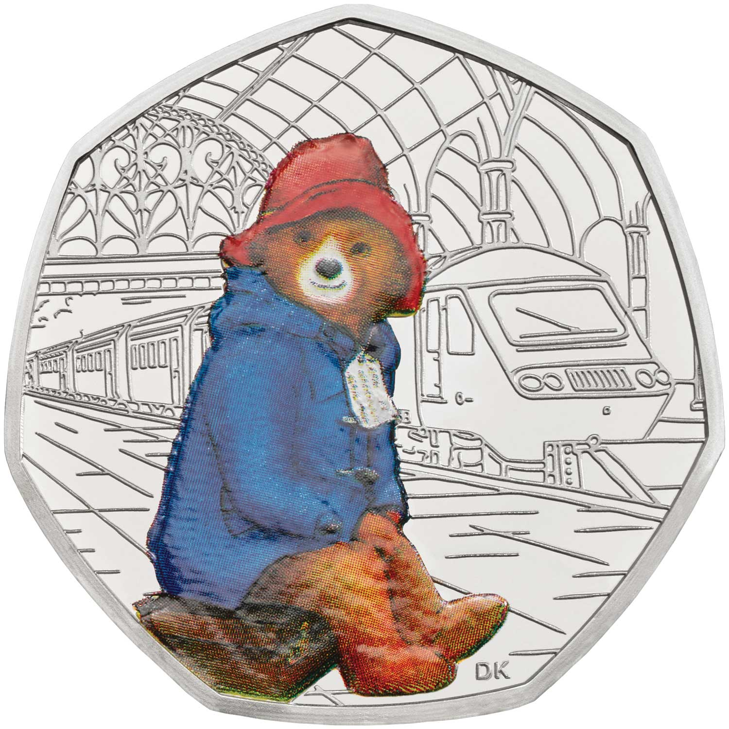 Fifty Pence 2018 Paddington Bear at the Station: Photo Paddington at the Station 2018 UK 50p Silver Proof Coin
