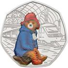 United Kingdom / Fifty Pence 2018 Paddington Bear at the Station / Silver Proof FDC - reverse photo