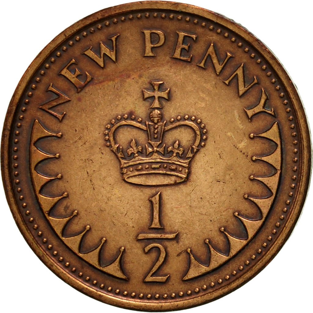 Half Penny 1980: Photo Coin, Great Britain, 1/2 New Penny, 1980