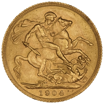 Sovereign 1904: Photo Gold sovereign, London (England)
