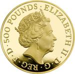 United Kingdom / Gold Five Ounces 2017 Lion of England - obverse photo