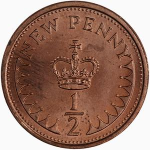 United Kingdom / Half Penny 1975 - reverse photo