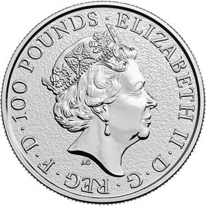 United Kingdom / Platinum Ounce 2017 Lion of England - obverse photo