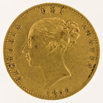 Half Sovereign 1859: Photo Gold 1/2 sovereign, London (England)