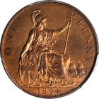 Penny 1894 (Veiled Head, Pattern): Photo Great Britain 1894 penny KM-790