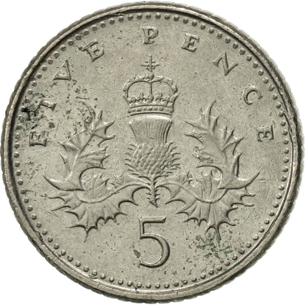 Five Pence 1999: Photo Great Britain, Elizabeth II, 5 Pence, 1999