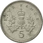 United Kingdom / Five Pence 1999 - reverse photo