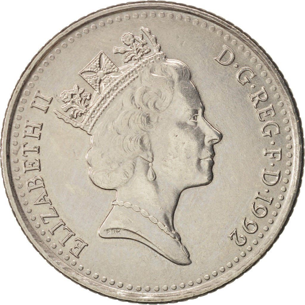 Ten Pence 1992 (Small): Photo Coin, Great Britain, Elizabeth II, 10 Pence, 1992