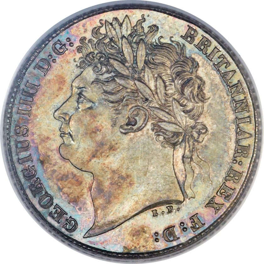 Sixpence: Photo Great Britain 1824 6 pence