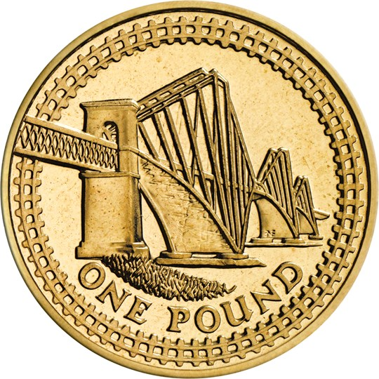 One Pound 2004 Forth Railway Bridge: Photo 2004 One Pound Coin | The Royal Mint
