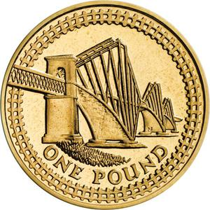 United Kingdom / One Pound 2004 Forth Railway Bridge - reverse photo